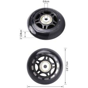 8 шт. в упаковке, роликовые диски для начинающих, сменные колеса с подшипниками, роликовые диски 70 мм