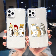 Funny Cartoon Cat Phone Case For iPhone 11 12 Pro Max XR XS X 8 7 SE 2020 6 Plus Cute Animal Pattern Clear Soft TPU Cover Shell
