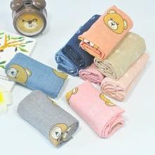 baby children cartoon bear scarf five-pointed star New Korean version autumn  winter sping  cotton linen scarf -qx