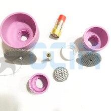 Сварочная горелка tig, керамические сопла, чашки + сетчатая сетка + Цанга + газовая линза для WP9/20