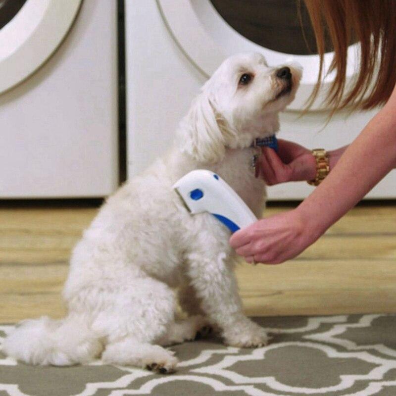 Новая расческа для чистки домашних животных, электрическая щетка для чистки собак и кошек, Удобная белая Расческа для домашних животных, принадлежности для собак