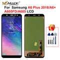 A605 samsung LCD Galaxy A6 artı 2018 dokunmatik LCD ekran ekran sayısallaştırıcı yedek parçaları için A605 A6 + A605F A605FN LCD