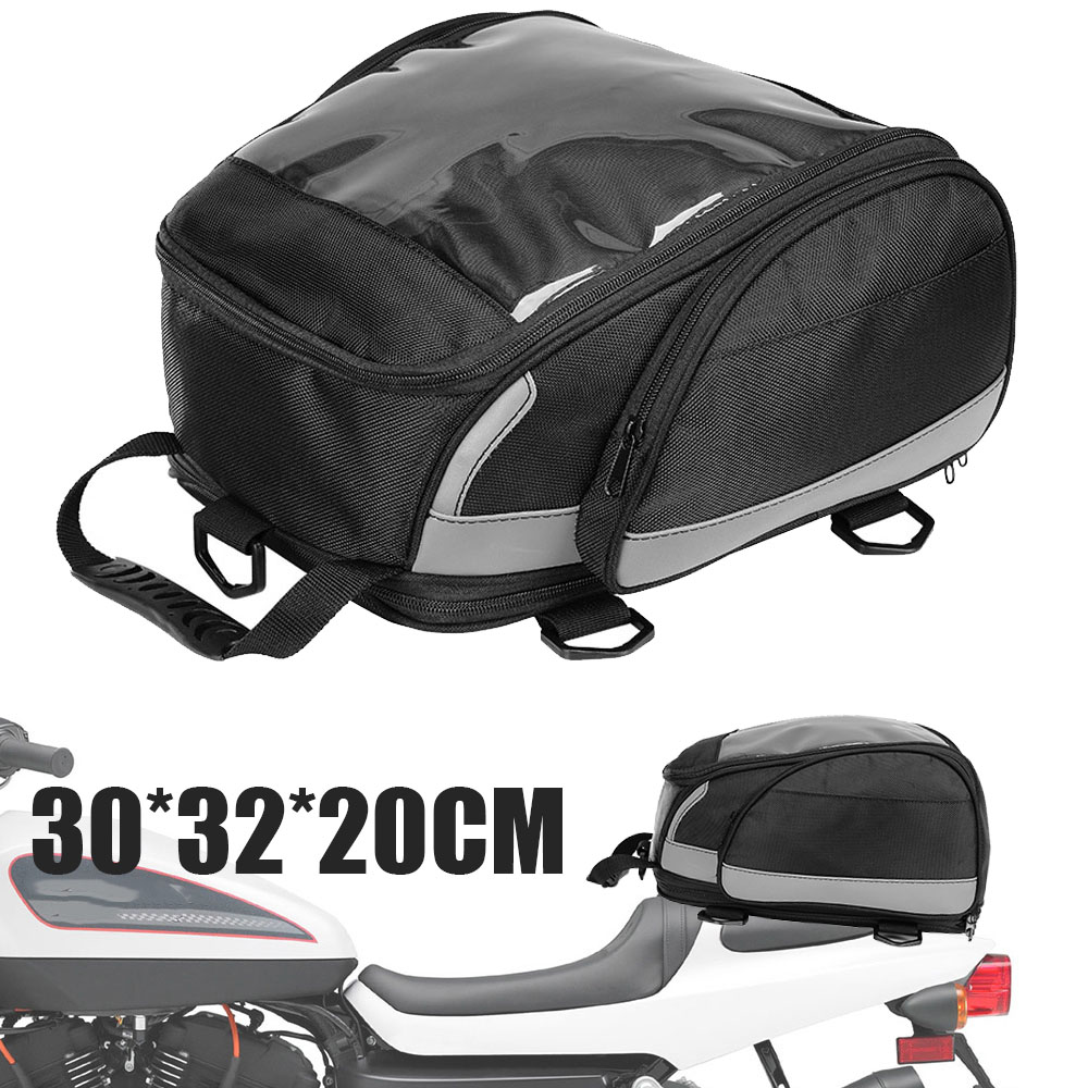 1PC Motorcycle Tail Bag Rear Back Seat Bag Cycling Backpack Travel Sport Luggage Rider Bag Pack High Quality 1680D Polyester