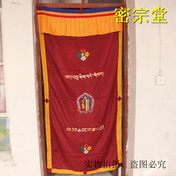 Door curtain hidden decoration hanging curtain cloth India package and post f Tibetan Buddhism Hall fabric