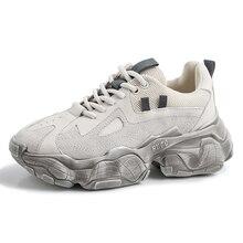 Womens Multi-layer Heel Sport Running Trekking Shoes Sneakers For Women Sports Leather Toursim Woman