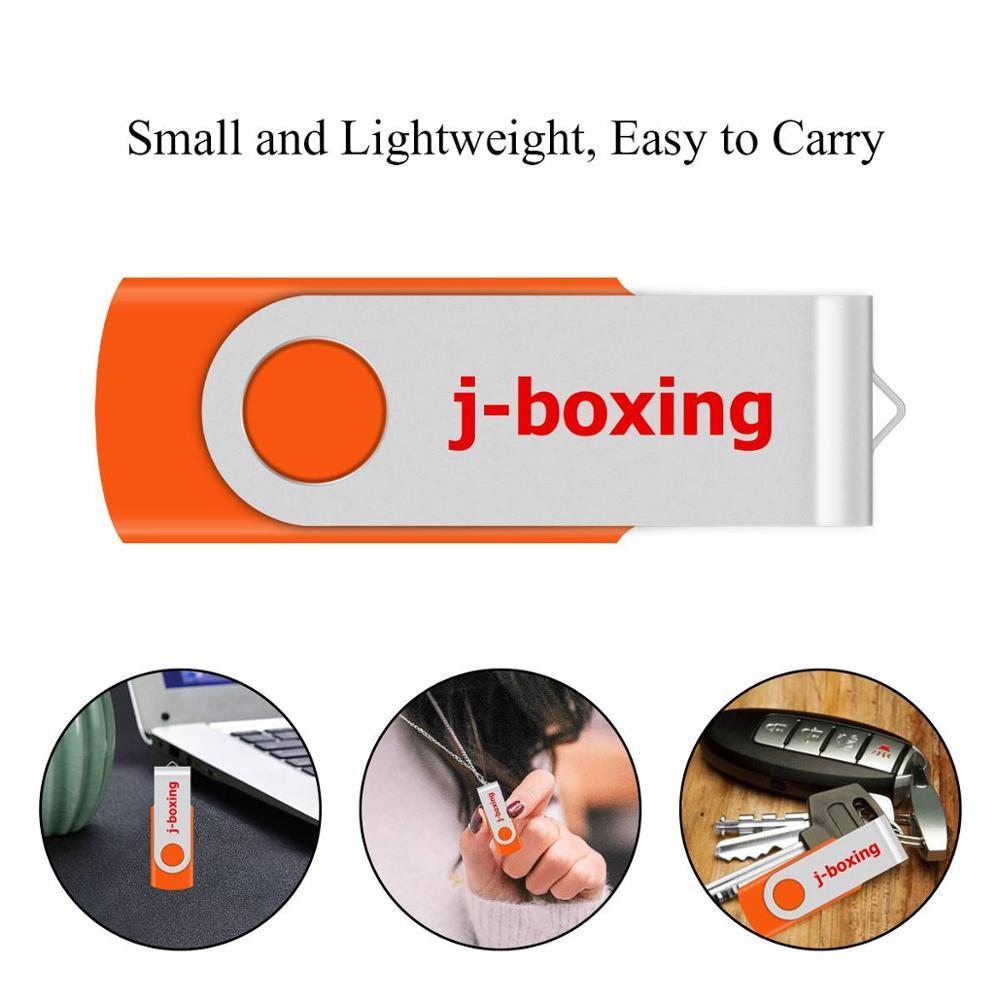 Купить с кэшбэком J-boxing USB Flash Drives Thumb Drive Metal Swivel Pendrives 1GB 2GB 4GB 8 GB 16 GB 32 GB Multicolor for PC Mac Tablet 5PCS/Pack