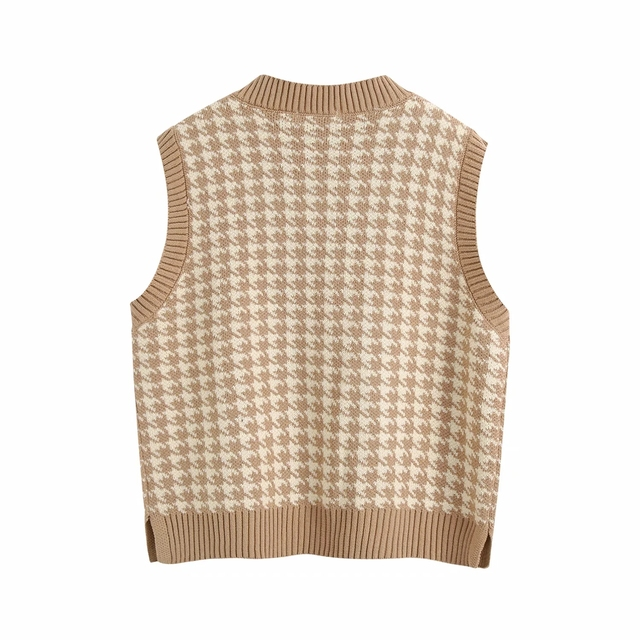 Fashion sleeveless vest sweater women pullover casual v neck knitted sweater winter cute korean sweater 2020 5
