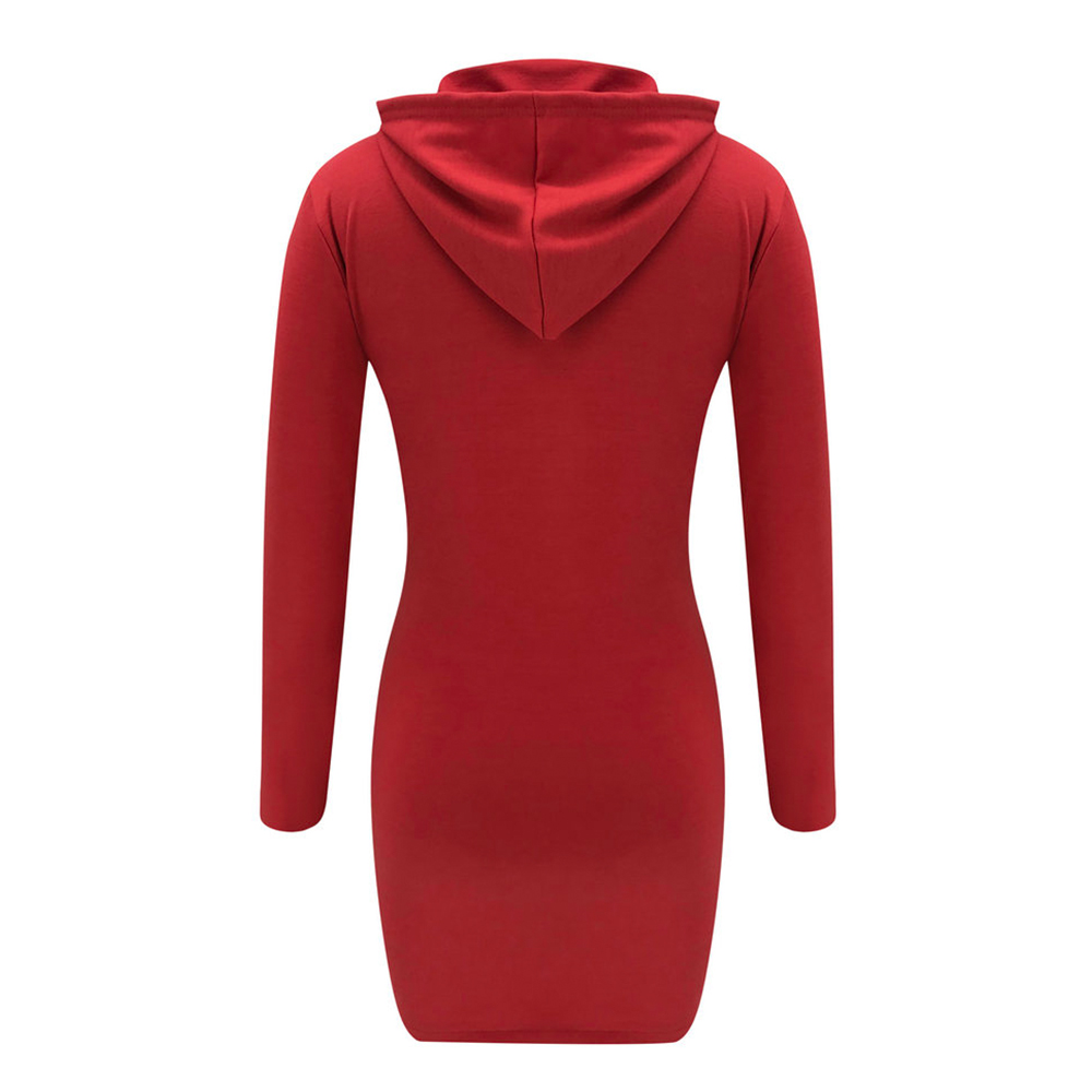 H5791a16a26254d438a5467357d2bc435c - Autumn Hoodies Dress Women Letter Print Hooded Dresses Lady Casual Zipper Drawstring Stripe Sweatshirt Dress ropa mujer D30