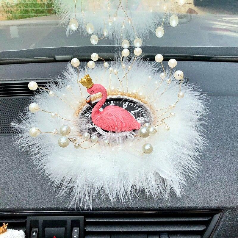 Автомобильные аксессуары интерьера Фламинго орнамент для любви автомобиля освежитель воздуха ароматерапия бамбуковый уголь сушеные Цветочные украшения автомобиля - Название цвета: Feather 1 bird