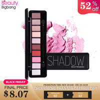 BeautyBigBang 10 Color Sombras Eyeshadow Pallete Makeup Eye Shadow Shimmer And Shine Pigment Powder Eye Shadow Palette