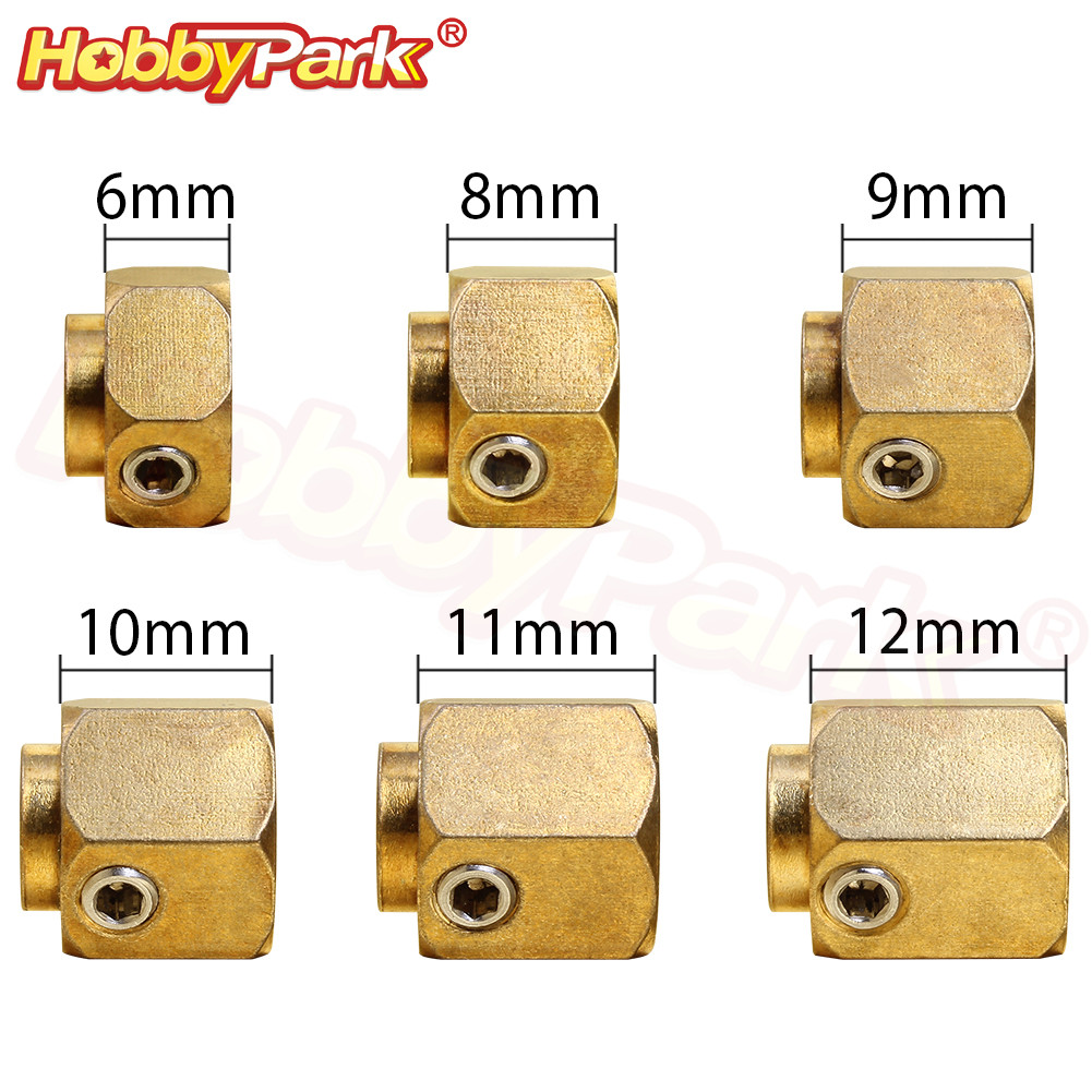6/8/9/10/11/12mm Heavier Brass 12mm Hex <font><b>Wheel</b></font> Hub Extended Adapter For Traxxas TRX-4 Scale Trail Axial SCX10 RC 1/10 Crawler Car image