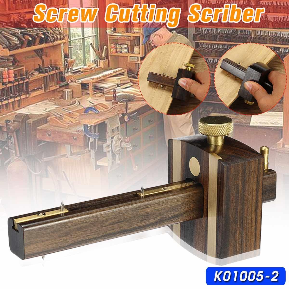 Indonesia Ebony+Pure Copper DIY Carpenter Wood Working Screw Cutting Gauge Mark Scraper Wearproof Scribers