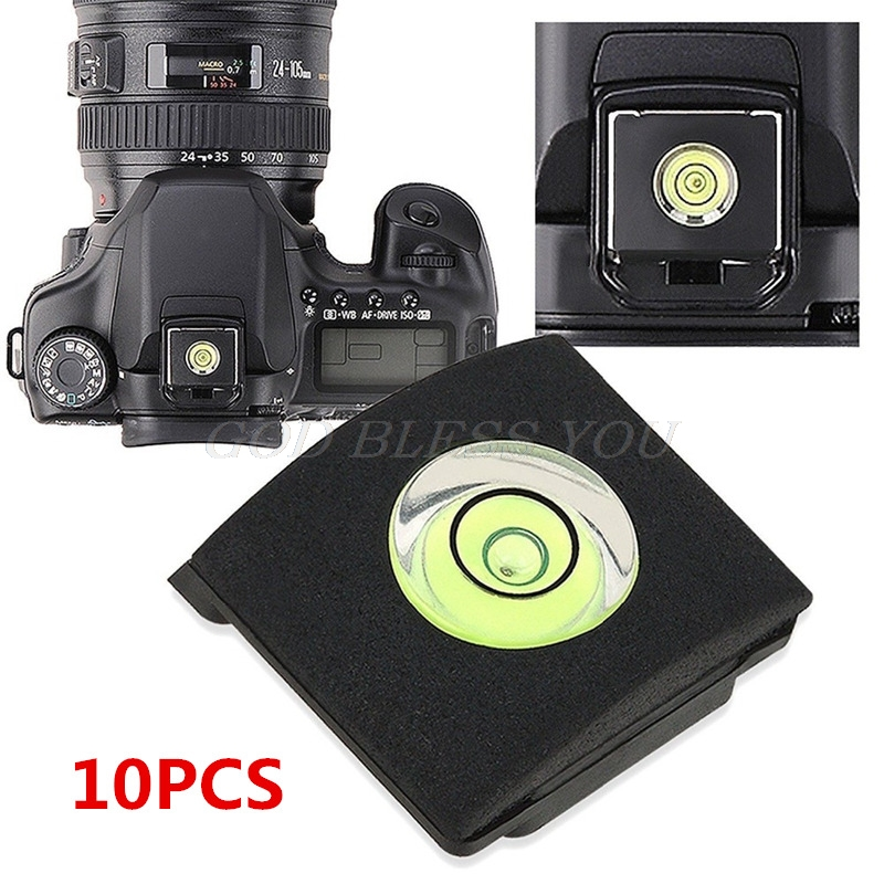 10PCS Hot Shoe Cover Cap Bubble Spirit Level For Canon Nikon Olympus Pentax Drop Shipping
