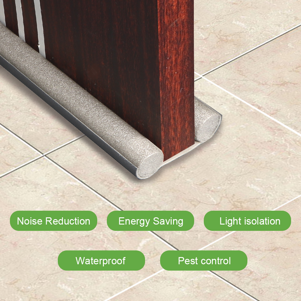 Tira de vedação inferior da porta som poof redução de ruído sob o projeto de porta rolha janela à prova de poeira tira do tempo painel de espuma acústica|Tiras de vedação|   - AliExpress
