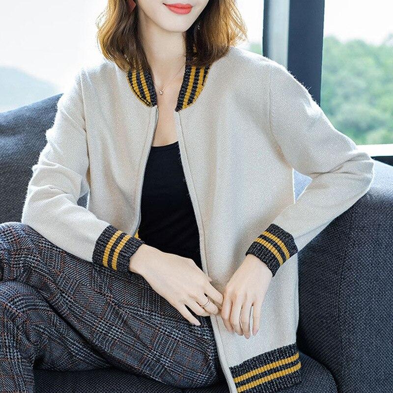 Femme cardigan automne robe pull 2019 nouveau printemps automne hiver veste manteau apprêt cardigan 0728-105