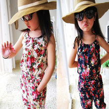 Girls Kids 2-8Y Jumpsuit Rompers Short Pants Summer Playsuit Soft Clothing