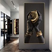 Preto mãos segurando jóias arte da lona posters e impressões africanas quadros em tela na parede arte fotos para sala de estar