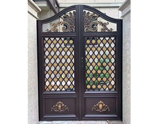 China Elegant Indonesia Gate Design Swing Gate With Opener Motor