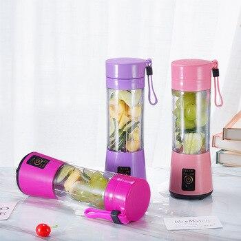 Licuadora de batidos eléctrica USB portátil de 380ml, batidora, Mini licuadora de zumos, batidora rápida, procesadora de alimentos