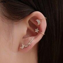 Vintage Star Moon Ear Cuff Set Gold Clip On Earrings For Women Fake Ear Piercing Ear Clips No Piercing Earrings 2020 Earcuff