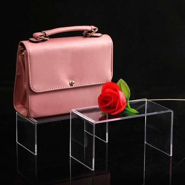 Фото акриловая витрина для обуви и сумок розничный держатель прозрачная
