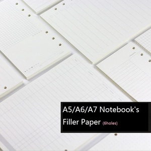 A5 A6 A7 Loose Leaf Notebook's Filler Pages, Black & Colored 45Sheets/pc Spiral Planner Agendar Refill Papers, Wholesale Cheap