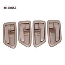 Tirador de puerta interior de ISANCE, Tan izquierdo, Derecho FL FR RL RR 69206 AA010 69205 AA010 para Toyota Camry 1997 1998 1999 2000