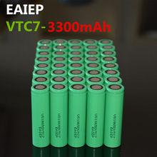 40 шт. 100% Новый оригинальный US18650VTC7 3,7 в 3300 мАч 18650 литиевый перезаряжаемый аккумулятор EAIEP фонарик батареи