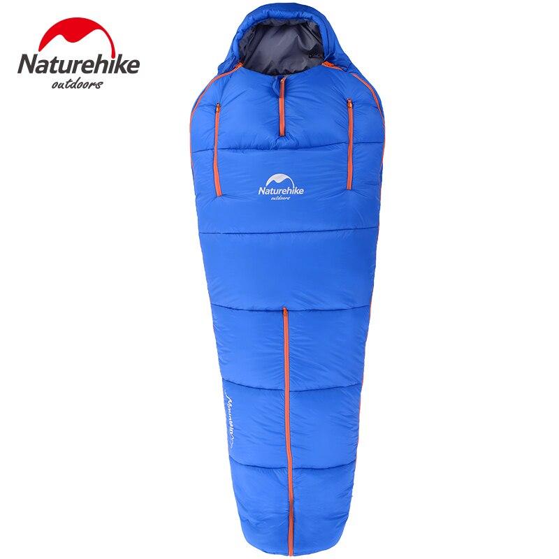 Naturehike Ultraleicht Compact Baumwolle Einzigen Rucksack Schlafsack Wasserdichte Tragbare Zip Zusammen Mummy Camping Schlafsack