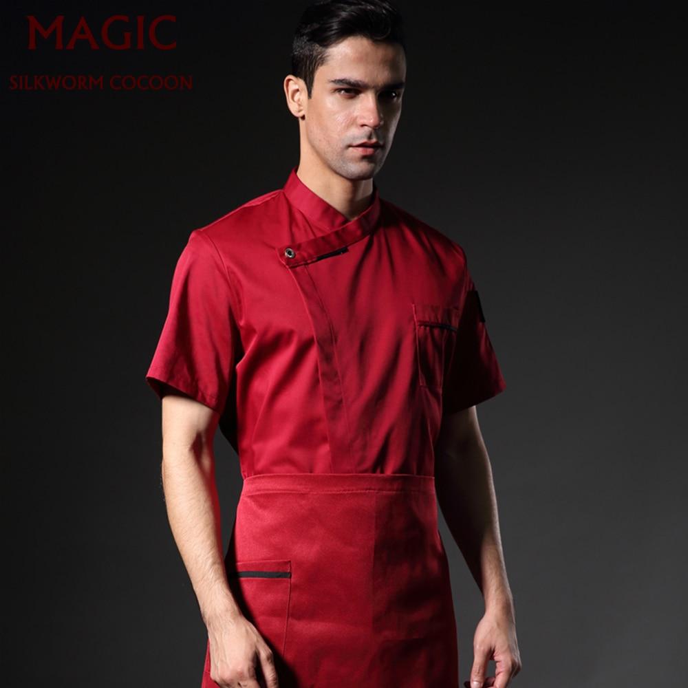 New Unisex Breathable Kitchen Coats Restaurant Uniform Chef Jackets Short &Long Sleeve Catering Cafe Bakery Waiter Work Uniforms