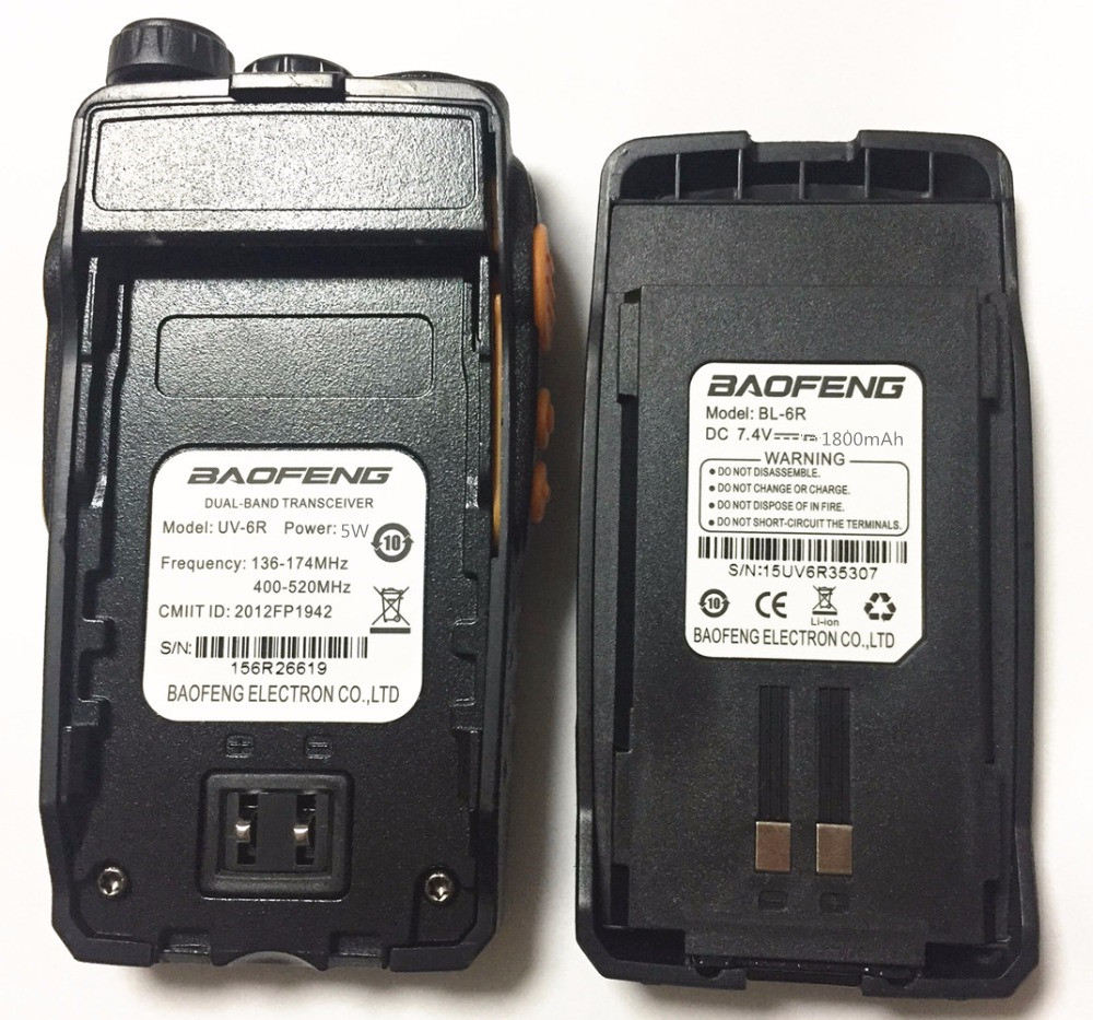 2pcs Baofeng UV-6R Walkie Talkie 7 watts Dual band Two Way Radio Pofung UV6R  HF Transceiver telsiz UV 6R Ham cb Radio station 5