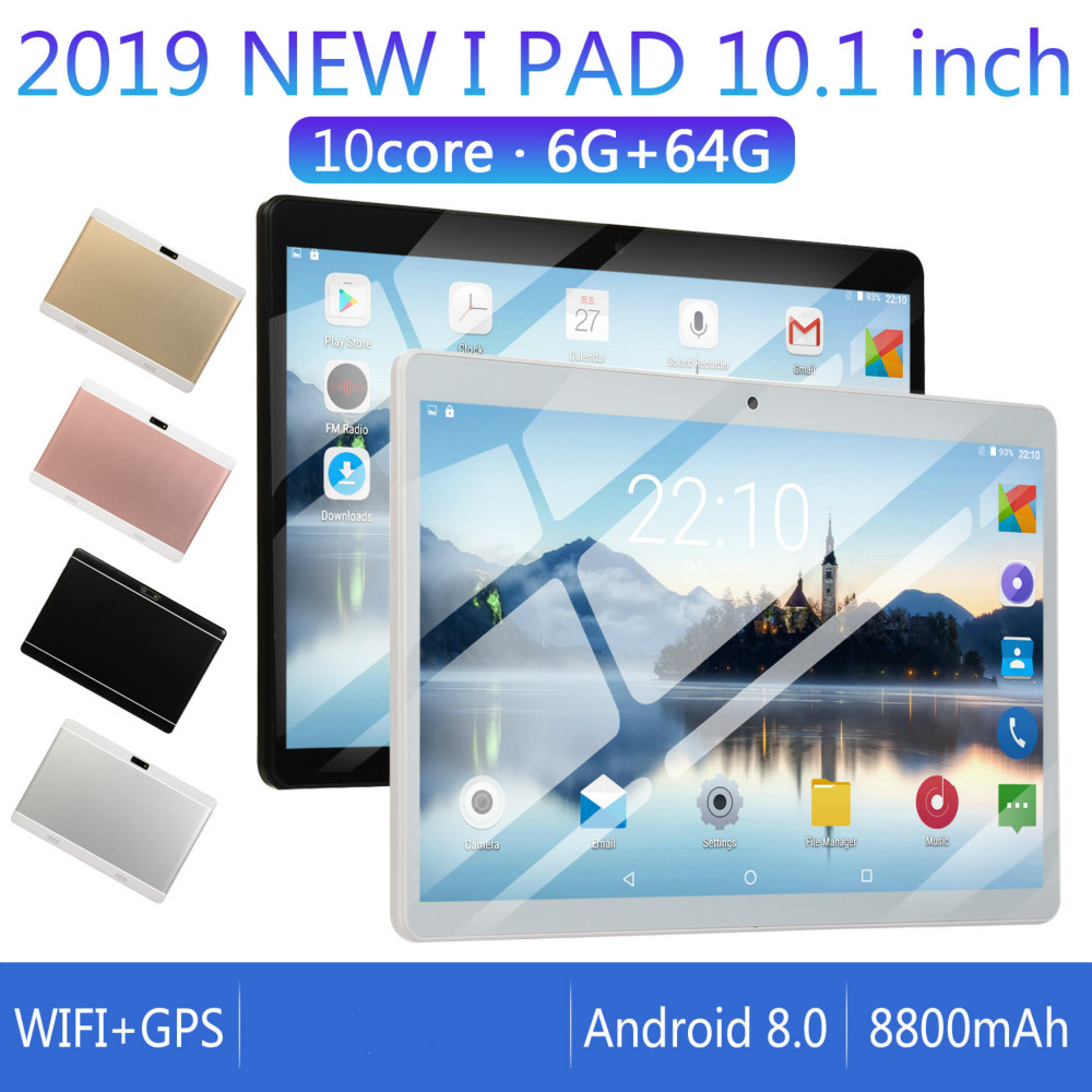 2020 10 Inch 2.5D Screen Android 8.0 4G Network WiFi Tablet PC Dual SIM Call Phone Tablet Gifts(6G+64G/16G) Tablet Gifts