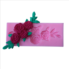 Silicone Molds Cake-Decorating-Tools Cookie-Cutter Flower-Form Wedding Rose Tree