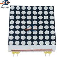 Rojo MAX7219 LED de matriz de cátodo común microcontrolador Módulo de Control de 5V/3,3 V LED matriz 8x8 para Arduino