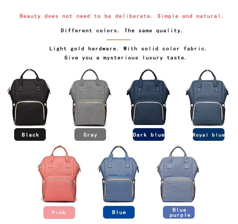 H5792e9ef35fd4e1ba901c8f4c75a4035c Fashion Mummy Maternity Nappy Bag Waterproof Diaper Bag With USB Stroller Travel Backpack Multi-pocket Nursing Bag for Baby Care