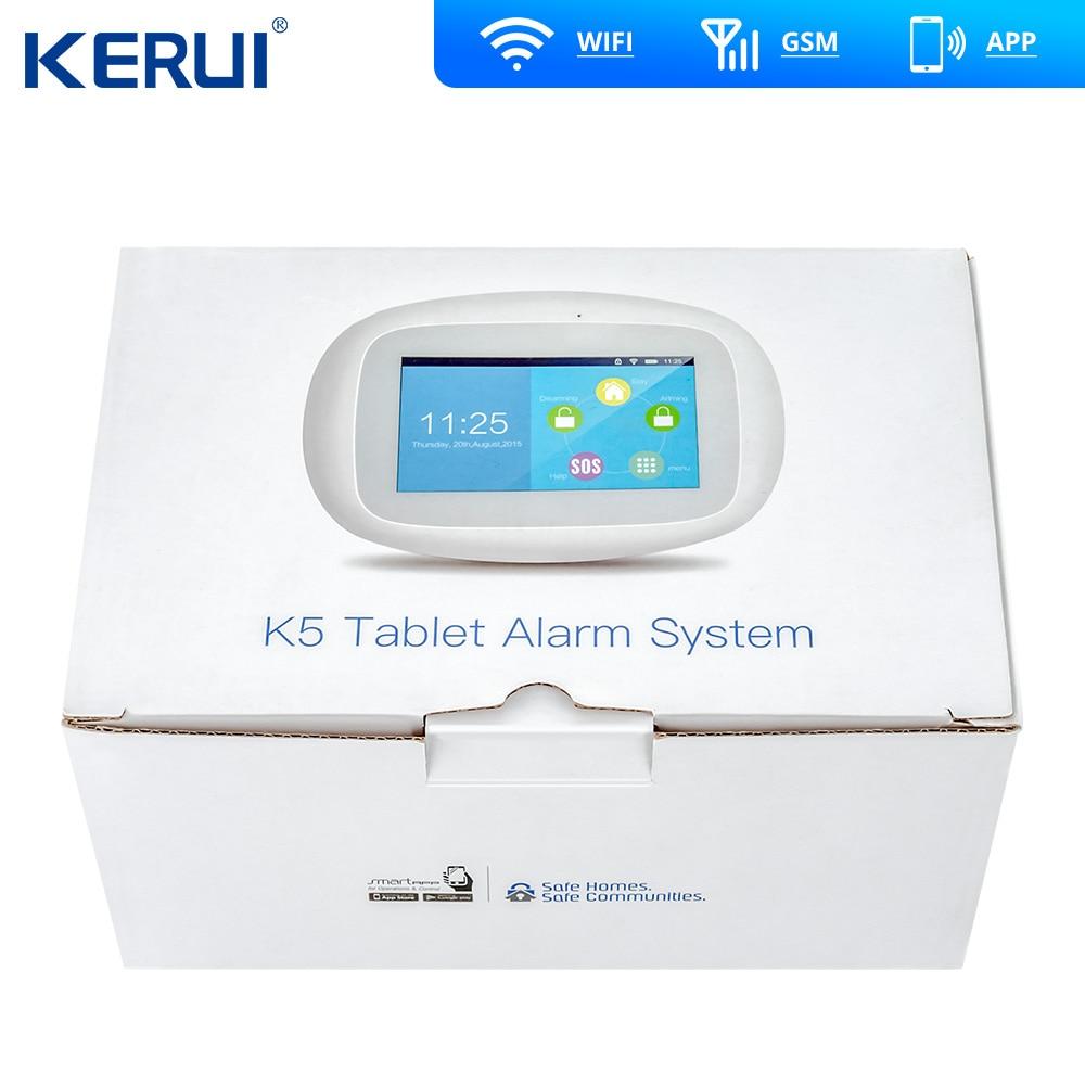 Kerui K52 grand écran tactile WIFI GSM système d'alarme TFT affichage système d'alarme à domicile sécurité détecteur de mouvement métal à distance - 5