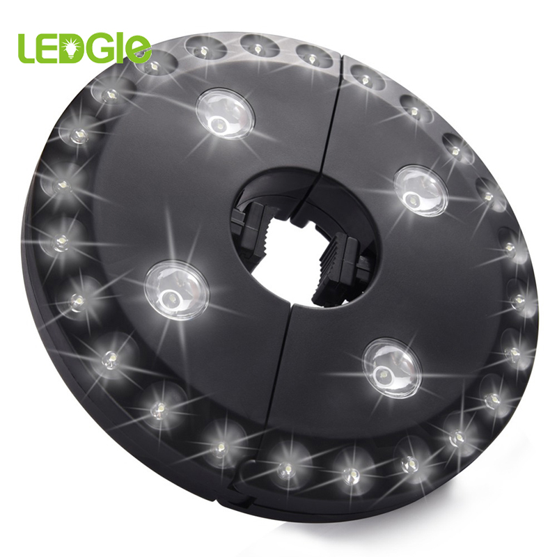LEDGLE 28LED LED Patio Umbrella Light 3W Outdoor Cordless Umbrella Pole Light Garden Portable Camping Tent Lamp Emergency Light