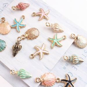 Necklace Anklet Bracelet Jewelry Craft-Accessories Charms Pendants Starfish Sea-Shell