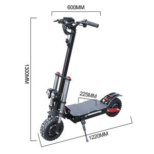52V / 60V 2000/2600 / 3200W electric scooter lithium battery with seat foldable fat tire 11 inch electric scooter I ebike