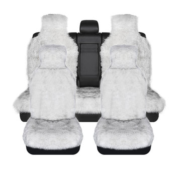 1set long-wool seat covers faux fur car seat covers universal size for all types of seats for renault logan for dacia duster