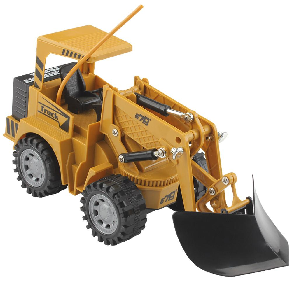 2019 NEW 1 24 RC Truck 5CH Full Functional RC Remote Control Snow Clearer Loader Engineering Construction Toy Car For Kids Gift in Tool Toys from Toys Hobbies