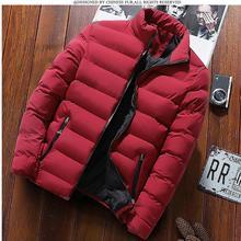 Hot Brand Fashionable Solomon Quality Open Zipper red Jackets Men Winter Casual