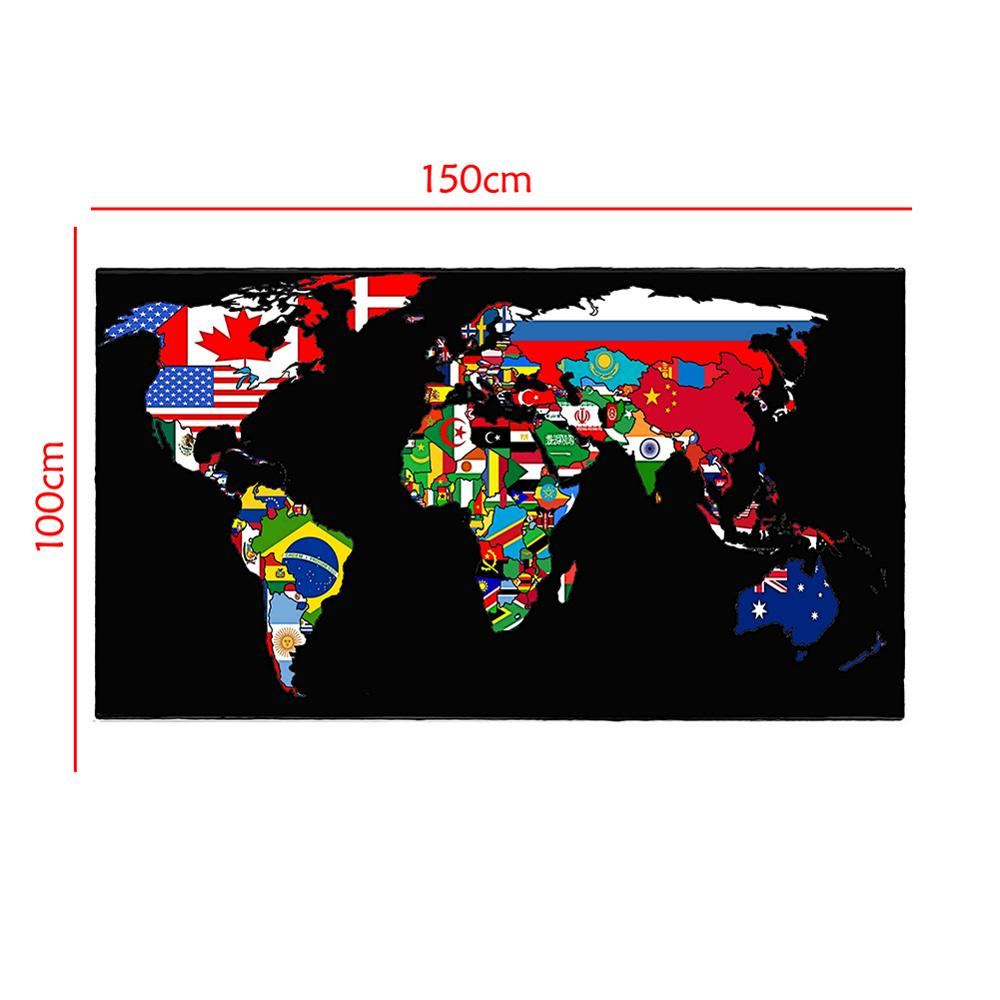 World Map Made Up Of National Flags Pattern 150x100cm Non-woven World Map For Home Office Wall Decor