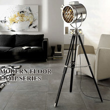 Nordic Retro Industrial Style Studio Searchlight Creative Stage Living Room Office Board Tripod Floor Lamp