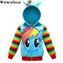 лучшая цена Waiwaibear Baby Girls Jackets and Coats Spring Autumn Jacket For Girls Coat Kids Cartoon Hooded Outerwear Coat Children Clothes