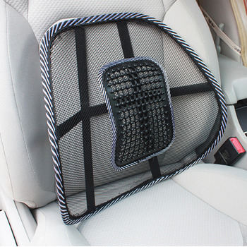 New 1PC Chair Massage Back Lumbar Support Mesh Ventilate Cushion Pad Car Office Seat Hot image