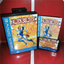 Alien Soldier EU Cover Version Card with Manual for MegaDrive Video Game Console 16 bit MD Cartridge