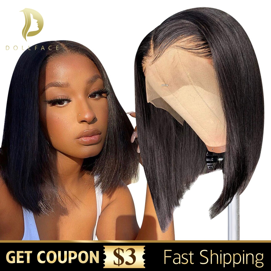 Short Bob Wig Straight Lace Front Human Hair Wigs For Black Women Natural Brazilian Wig Remy Pre Plucked Closure Frontal Hair Human Hair Lace Wigs Aliexpress
