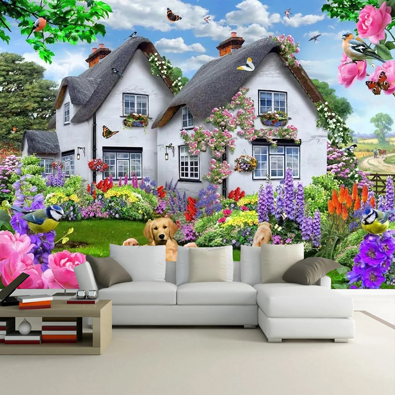 Garden Full of Flowers Wall Mural Photo Wallpaper GIANT DECOR Paper Poster