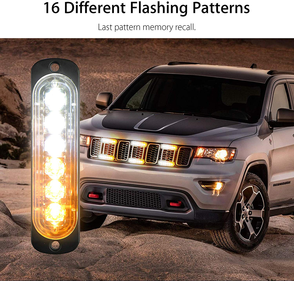 6 LEDs Emergency Light For Car Warning Flashing Firemen Police Emergency Light Ambulance Police Strobe Warning Light